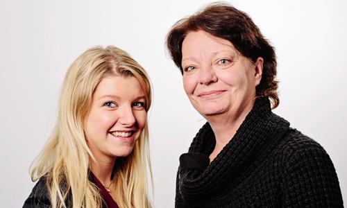 Lina och Åsa på Klotterkonsulten.