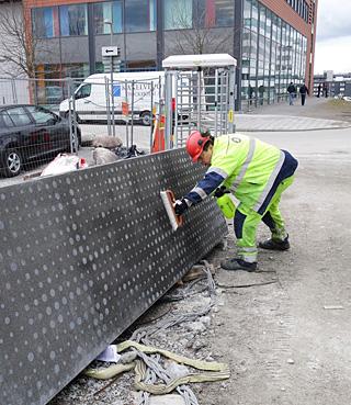 Provyta appliceras på Tele 2 HK i Stockholm.