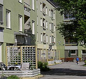 Klotterkonsulten fasadimpregnering på byggnad.