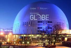 Globen med klotterskydd.