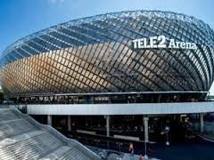 Tele2 arena med klotterskydd.