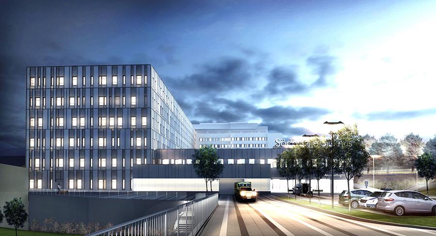 Imorgon invigs en ny behandlingsbyggnad på Södertälje Sjukhus – Klotterkonsulten AKS säkerställer att det är fritt från klotter