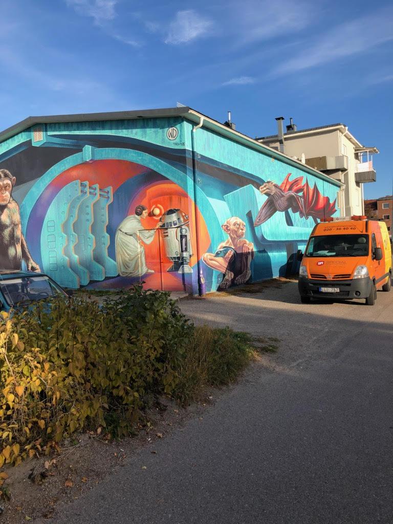 Stort konstprojekt i Ljusdal klotterskyddas av Klotterkonsulten AKS