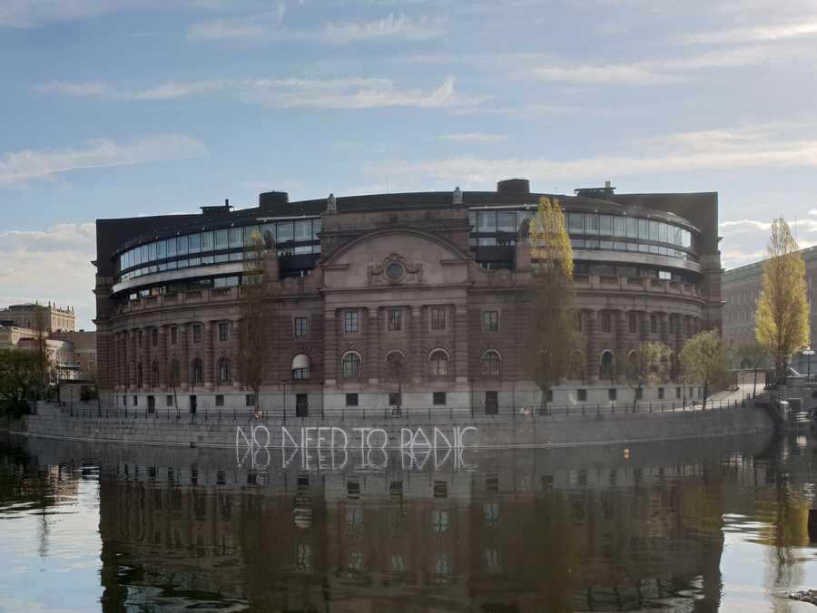 Klotter vid Sveriges riksdag – en aktion för / mot miljön?