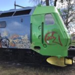 klottersanering av tågvagn