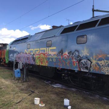 Klottersanering av tåg i Kil som kontoret i Karlstad har utfört