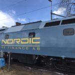 tåg efter klottersanering