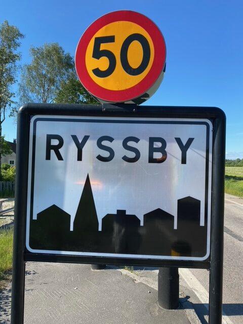 Klottersanering i Ryssby utanför Ljungby