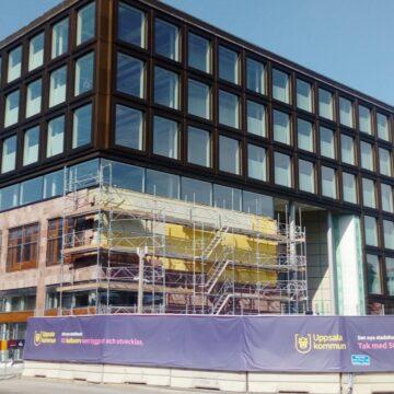 Klotterskydd i Uppsala nya Stadshuset